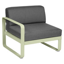 Bellevie 1 Seater Left Module - Willow Green/Graphite Grey