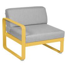 Bellevie 1 Seater Left Module - Honey/Flannel Grey