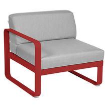 Bellevie 1 Seater Left Module - Poppy/Flannel Grey