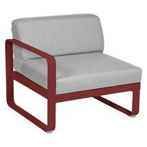 Bellevie 1 Seater Left Module - Chilli/Flannel Grey