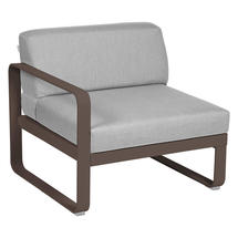 Bellevie 1 Seater Left Module - Russet/Flannel Grey