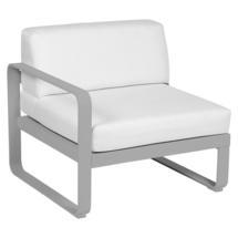 Bellevie 1 Seater Left Module - Steel Grey/Off White