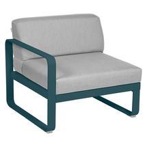 Bellevie 1 Seater Left Module - Acapulco Blue/Flannel Grey