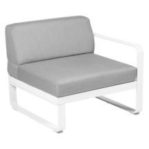 Bellevie 1 Seater Right Module - Cotton White/Flannel Grey