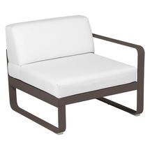 Bellevie 1 Seater Right Module - Russet/Off White