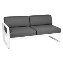 Bellevie 2 Seater Left Module - Cotton White/Graphite Grey
