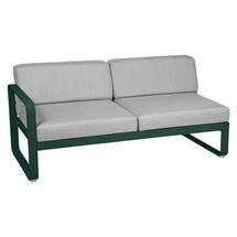 Bellevie 2 Seater Left Module - Cedar Green/Flannel Grey
