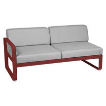 Bellevie 2 Seater Left Module - Chilli/Flannel Grey
