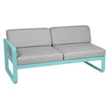Bellevie 2 Seater Left Module - Lagoon Blue/Flannel Grey