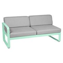 Bellevie 2 Seater Left Module - Opaline Green/Flannel Grey
