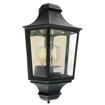 Turin Flush Wall Lantern - Black