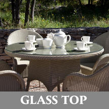 Nimes 130cm Dining Table - Glass Top