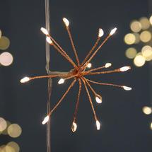 Allium Starburst Battery String Lights - Copper