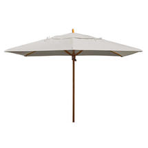 Classic Wood Framed Rectangle Parasols - Ice Grey