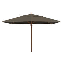 Classic Wood Framed Rectangle Parasols - Taupe
