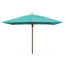 Classic Wood Framed Rectangle Parasols - Turquoise