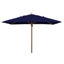 Classic Wood Framed Rectangle Parasols - Navy