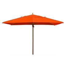 Classic Wood Framed Rectangle Parasols - Orange