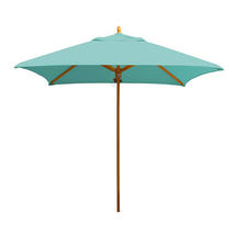Classic Wood Framed 2.2m Square Parasols - Turquoise