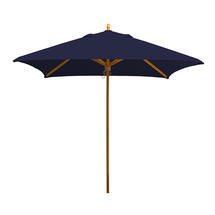 Classic Wood Framed 2.2m Square Parasols - Navy