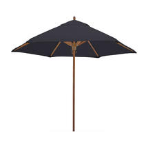 Classic Wood Framed 2.6m Round Parasols - Charcoal
