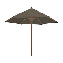 Classic Wood Framed 2.6m Round Parasols - Taupe