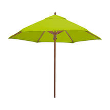 Classic Wood Framed 2.6m Round Parasols - Lime