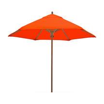 Classic Wood Framed 2.6m Round Parasols - Orange