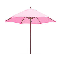 Classic Wood Framed 2.6m Round Parasols - Pink