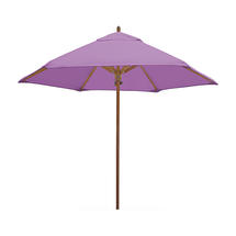 Classic Wood Framed 2.6m Round Parasols - Lilac