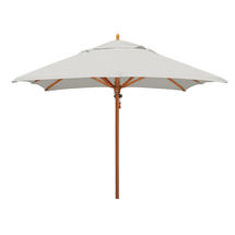 Classic Wood Framed 2.8m Square Parasols - Ice Grey