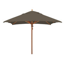 Classic Wood Framed 2.8m Square Parasols - Taupe