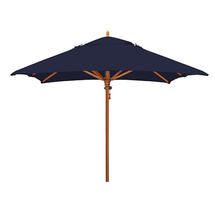 Classic Wood Framed 2.8m Square Parasols - Navy