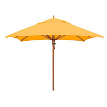 Classic Wood Framed 2.8m Square Parasols - Yellow