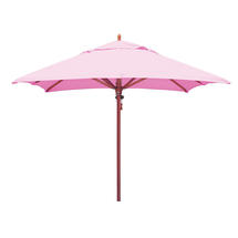 Classic Wood Framed 2.8m Square Parasols - Pink