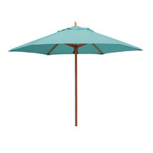 Classic Wood Framed 3.2m Round Parasols - Turquoise