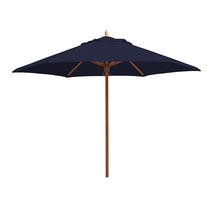 Classic Wood Framed 3.2m Round Parasols - Navy
