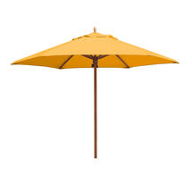 Classic Wood Framed 3.2m Round Parasols - Yellow