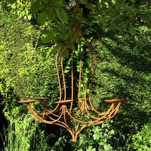 Rusted Tudor Style Chandelier - Medium