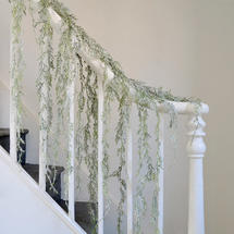 Frosted Cedar Garland - Ice Green