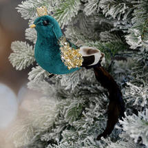 Prince Charming Velvet Bird Clip Decoration