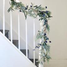 Blueberry and Olive Leaf Garland