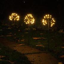 Starburst Sparkler Connectable Path Lights - Set of 3