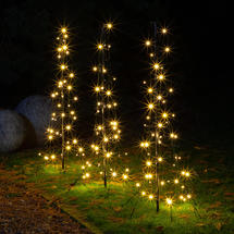Illuminated LED Path Light Trees - Set of 3