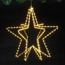Silver Outdoor Micro LED Star Decoration