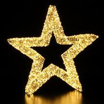 Opulent Outdoor Illuminated LED Star Decoration