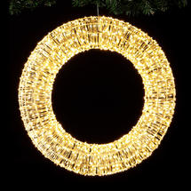 Opulent Outdoor Illuminated LED Wreath