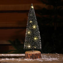 Micro Light Table Top Snowy Bottle Brush Tree - Large