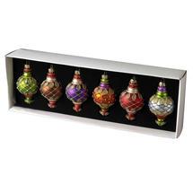 Kazbah Glass Tree Decorations - Set of 6