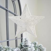 Star Tree Topper - Ice White